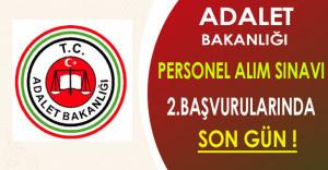 Adalet Bakanlığı Personel Alım Sınavı 2.Başvurularında Son Gün !