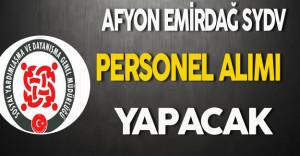 Afyon Emirdağ SYDV Personel Alımı Yapacak
