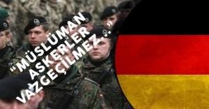 Almanya Savunma Bakanı'ndan Müslüman Asker Açıklaması