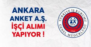 Ankara Anket AŞ. En Az İlkokul Mezunu İşçi Alıyor