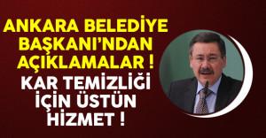 Ankara Belediye Başkanı Melih Gökçek'ten Kar Temizliği Çalışmalarına İlişkin Açıklama
