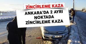 Ankara'da Zincirleme Trafik Kazası Meydana Geldi