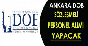Ankara DOB Genel Müdürlüğü Sözleşmeli Personel Alımı Yapacak