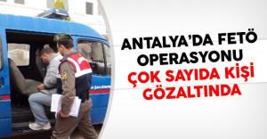 Antalya'da FETÖ'cülere Operasyon