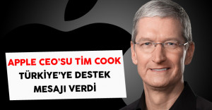 Apple Ceo'su Cook, Türkiye'ye Destek Mesajı Verdi