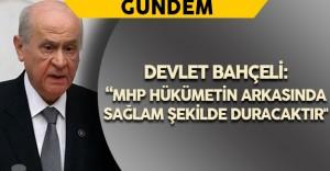 """Bahçeli: """"MHP hükümetin arkasında sağlam şekilde duracaktır"""""""