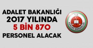 Bakan Bozdağ, Adalet Bakanlığı'na 2017 yılında 5 bin 870 Personel Alınacağını Açıkladı
