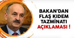 Bakan Müezzinoğlu: 'Kıdem tazminatını Meclis'e getireceğim'