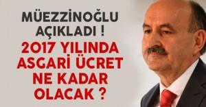 Bakan Müezzinoğlu'ndan asgari ücret açıklaması geldi !