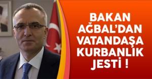 Bakan Naci Ağbal'dan Vatandaşa Kurbanlık Jesti !