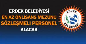 Balıkesir/Erdek Belediyesi En Az Önlisans Mezunu Sözleşmeli Personel Alacak