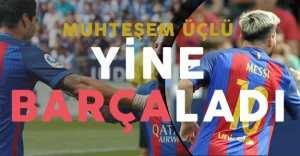 Barcelona Leganes'e Acımadı ! Süper Üçlü İş Başında !