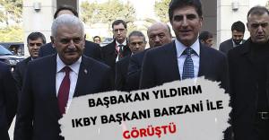 Başbakan Yıldırım IKBY Başkanı Barzani İle Görüştü