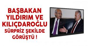 Başbakan Yıldırım ve Kılıçdaroğlu sürpriz şekilde görüştü