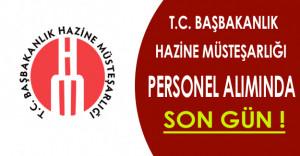 Başbakanlık Hazine Müsteşarlığı Personel Alımında Son Gün !