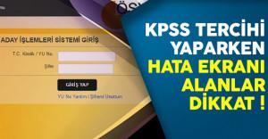 KPSS 2016/2 Tercihlerinde Başvuru Bilgileri Getirilemedi Hatası Nasıl Çözülür?