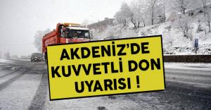 Batı Akdeniz İçin Buzlanma Uyarısı