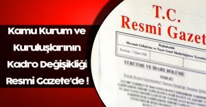Bazı Kamu Kurum ve Kuruluşlarının Kadrolarının Düzenlenmesine İlişkin Karar Resmi Gazete'de