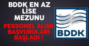 BDDK En Az Lise Mezunu Personel Alımı Başvuruları Başladı