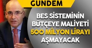 BES Sisteminin Bütçeye Maliyeti 500 Milyon Lirayı Aşmayacak