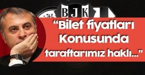 """Beşiktaş Başkanı : """" Nisan Ayında Şampiyon Oluruz Diye..."""""""