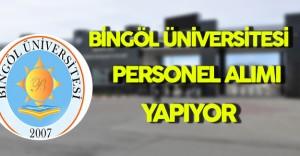 Bingöl Üniversitesi Personel Alımı Yapıyor