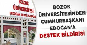 Bozok Üniversitesinden Cumhurbaşkanı Erdoğan'a Destek Bildirisi