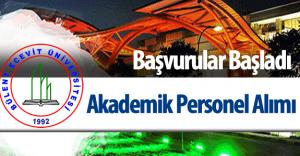 Bülent Ecevit Üniversitesi Akademik Personel Alımı Yapacak