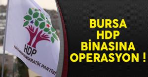 Bursa'da HDP Yetkilileri Operasyonla Gözaltına Alındı