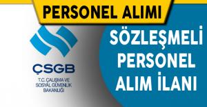 Çalışma ve Sosyal Güvenlik Bakanlığı Sözleşmeli Personel Alıyor