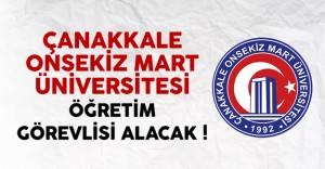 Çanakkale Onsekiz Mart Üniversitesi Öğretim Elemanı Alacak
