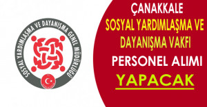 Çanakkale SYDV Personel Alımı Yapacak