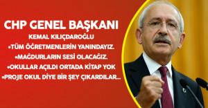 """CHP Genel Başkanı Kılıçdaroğlu Sert Konuştu :"""" Hangi Vicdana Sığar Bunlar?"""""""