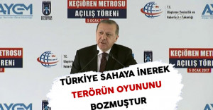 Cumhurbaşkanı Erdoğan: Türkiye Sahaya İnerek Terörün Oyununu Bozmuştur