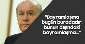 Devlet Bahçeli MHP'lilerle Bayramlaştı
