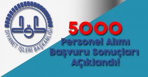 DİB 5000 Sözleşmeli Personel Alımı Başvuru Sonuçları Açıklandı
