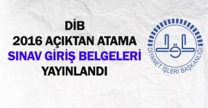 DİB Açıktan Atama Sözlü Sınav Giriş Belgeleri Yayınlandı