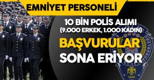 Dikkat ! 10 Bin Polis Alımı için Başvurular Sona Eriyor ( 9 Bin Erkek, 1000 Kadın Polis Alımı)