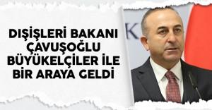 Dışişleri Bakanı Çavuşoğlu 9. Büyükelçiler Konferansı Nedeniyle Türk Büyükelçilerle Bir Araya Geldi