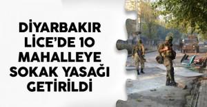 Diyarbakır Lice'de 10 Mahalleye Sokak Yasağı Getirildi