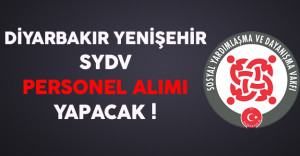 Diyarbakır Yenişehir SYDV Personel Alımı Yapacak