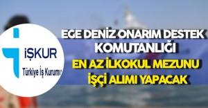 Ege Deniz Onarım Destek Komutanlığı En Az İlkokul Mezunu İşçi Alacak