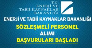 Enerji ve Tabii Kaynaklar Bakanlığı Sözleşmeli Personel Alımı Başvuruları Başladı