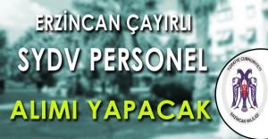 Erzincan Çayırlı SYDV Personel Alımı Yapacak