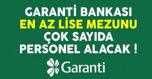 Garanti Bankası en az lise mezunu güvenlik görevlisi alımı yapacak