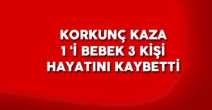 Gaziantep'in Nizip İlçesi'nde Korkunç Kaza ! 1 Bebek 3 Kişi Hayatını Kaybetti