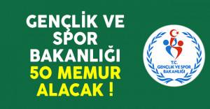 Gençlik ve Spor Bakanlığı (GSB) 50 memur alımı ilanı yayımlandı