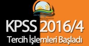 Gıda, Tarım ve Hayvancılık Bakanlığı KPSS 2016/4 Tercih İşlemleri Başladı