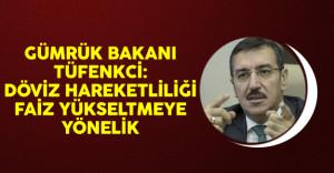 Gümrük Bakanı Tüfenkci: Döviz Hareketliliği Faiz Yükseltmeye Yönelik