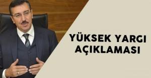 Gümrük ve Ticaret Bakanı Bülent Tüfenkci'den Yüksek Yargı Açıklaması